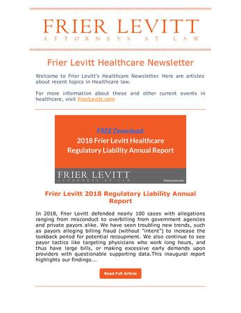 Frier Levitt Healthcare Image